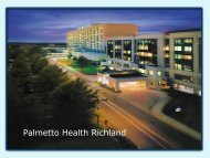 Palmetto Health Richland - South Carolina Hospital Association