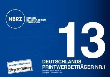 deutschlands printwerbeträger nr.1 13 - NBRZ