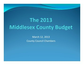 PowerPoint - County of Middlesex
