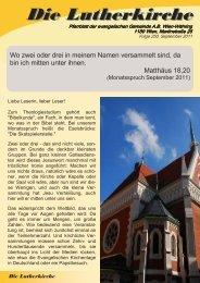 Zeitung 2011-3 - Währing & Hernals Lutherkirche Wien - Währing ...
