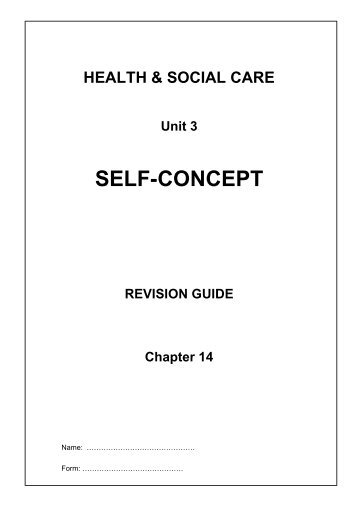 Self Concept Revision Booklet