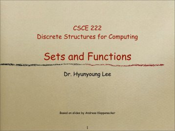 Sets and Functions - TAMU Computer Science Faculty Pages