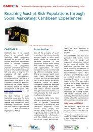 CARISMA Best Practices Case Study.pdf - PANCAP- Pan Caribbean ...