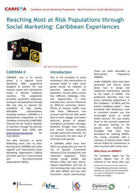 CARISMA Best Practices Case Study pdf - PANCAP- Pan