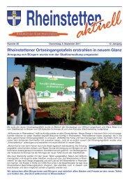 Rheinstettener Ortseingangstafeln erstrahlen in ... - Stadt Rheinstetten
