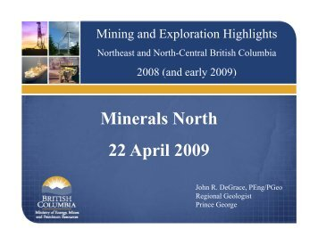 Mining-and-Exploration-Highlights-Northeast-and ... - Minerals North