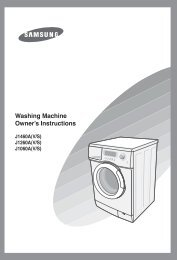 Washing Machine Owner's Instructions