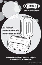 Air Purifier Purificateur d'air Purificador de aire - Graco