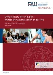 Erfolgreich studieren in den Wirtschaftswissenschaften der FAU - am ...