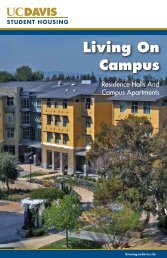Living on Campus booklet - UC Davis Student Housing