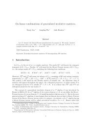 On linear combinations of generalized involutive matrices.