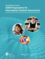 Second Report from the 2009 Programme for International Student ...