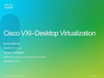 Cisco VXI–Desktop Virtualization - Cisco Knowledge Network
