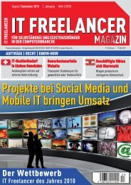 IT Freelancer Magazin Nr. 4/2010