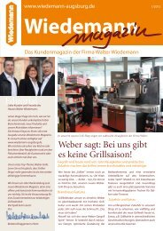 Editorial Weber sagt: Bei uns gibt es keine Grillsaison! - Wiedemann ...