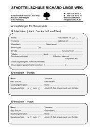 Einladung zum Elternsprechtag - Stadtteilschule Richard-Linde-Weg