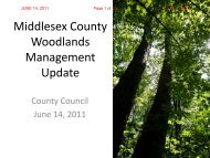 CC - June 14 - Woodlands Management Update - County of Middlesex