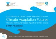 draft program - National Climate Change Adaptation Research Facility