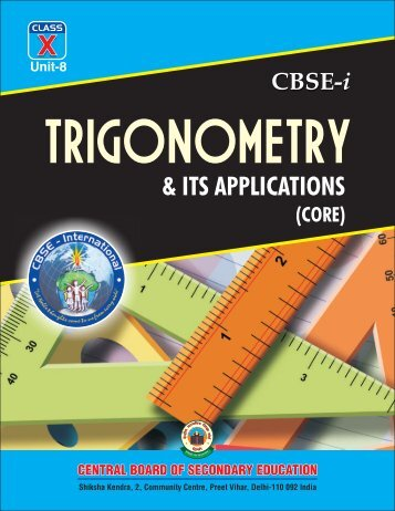 Unit-8:Trigonometry and its applications (Core) - New Indian Model ...