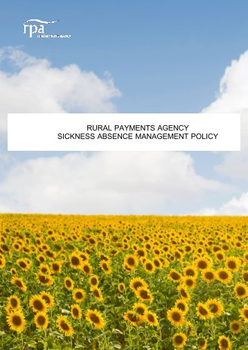 Sicknesss Absence Management Policy v1.1.pdf - The Rural ...