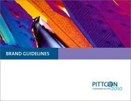 Pittcon Brand Manual - Pittcon Web Archives