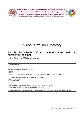 Download (2777Kb) - ACMAC's PrePrint Repository