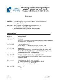Vorläufiges Programm - MedCongress