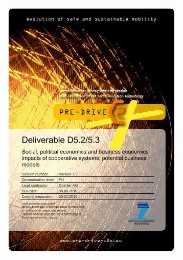 PRE-DRIVE C2X Deliverable D5.2-5.3 ...