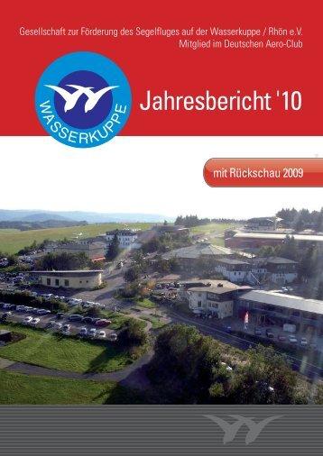 Tätigkeitsberichte 2009 - Rhönflug Fulda eV