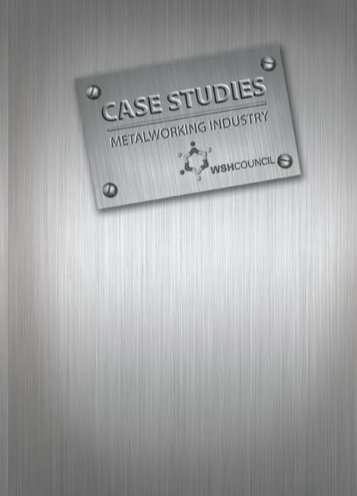 Case Studies on Metalworking Industry - Workplace Safety and ...