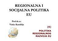 REGIONALNA I SOCIJALNA POLITIKA EU