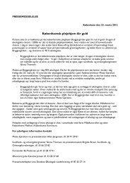 Download pressemeddelelsen - Københavns Madhus