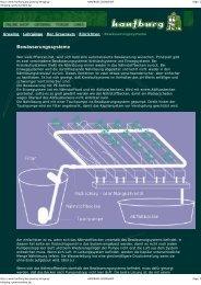 Bewässerungssysteme - Hanfburg