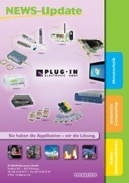 NEWS-Update Herbst 2011 - PLUG-IN Electronic GmbH