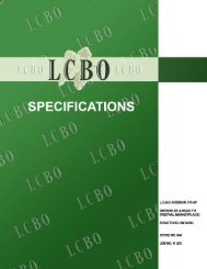 specifications interior fit up to lcbo stratford - birchcon.ca