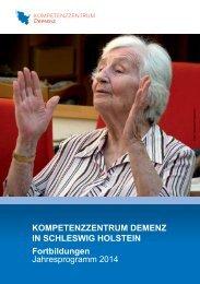 Jahresprogramm 2014 - Alzheimer Gesellschaft Schleswig-Holstein ...