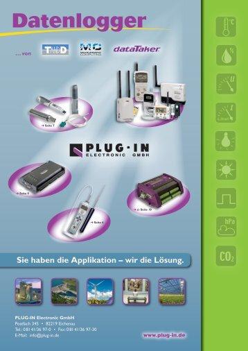 Intelligente Datenlogger - PLUG-IN Electronic GmbH