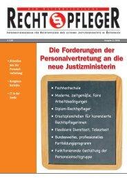 Der Österreichische Rechtspfleger - ZA Justiz