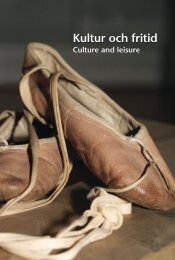 Kultur och fritid (pdf) - Statistiska centralbyrån
