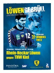 Ausgabe 10 (Saison 2009/2010): THW Kiel - Rhein-Neckar Löwen