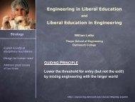 Engineering in Liberal Education Liberal Education in Engineering