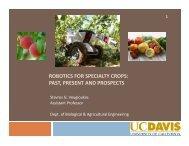 robotics for specialty crops - Agricultural & Applied Economics