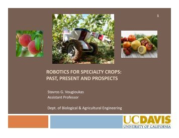 robotics for specialty crops - Agricultural & Applied Economics