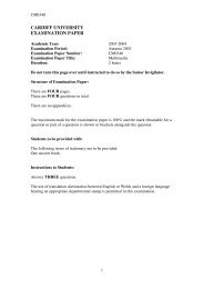 Multimedia BSC EXAM Paper 2004 - Cardiff University