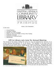 Newsletter Feb 2013.pdf - Dripping Springs Community Library