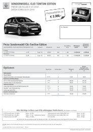 pdf preisliste clio tomtom edition - Renault
