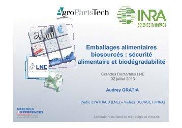 sécurité alimentaire et biodégradabilité