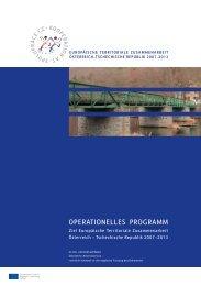 OPERATIONELLES PROGRAMM - Raumordnung und Regionalpolitik