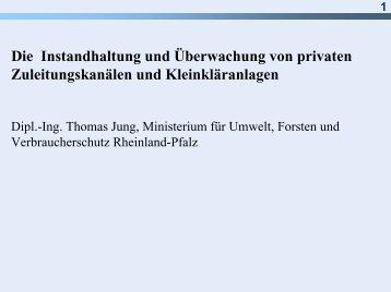 Die Instandhaltung und Überwachung von privaten ...