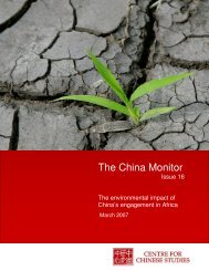 The China Monitor - Sustainable options for people, catchment and ...